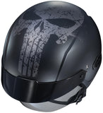 Motorcycle Helmet Marvel Punisher Graphic Open Face Half HJC IS-Cruiser Skull