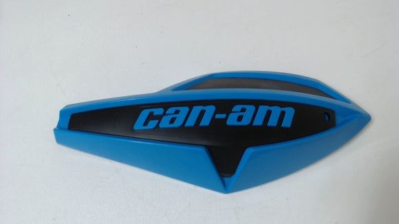 Can-Am Left Handlebar Wind Deflectors Octane Blue Black For Full Wrap Handguard