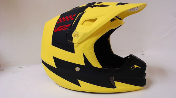 New Fox Racing 2018 V2 Mastar Mens Large MX Offroad Helmet Yellow ATV Motocross