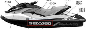 New Genuine SeaDoo Right RH Sea-Doo Hull Decal For GTI 130 SE STD 155 903HO