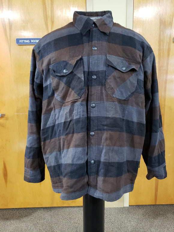 Scorpion Covert Flannel Motorcycle Jacket Adult Mens 2XL Black Brown Grey