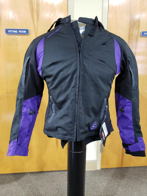 Speed & Strength Spell Bound Motorcycle Textile Jacket Adult Womens Large Purple