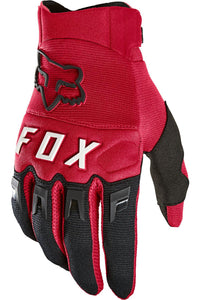 Fox Racing Adult Dirtpaw Gloves Flame Red MX Offroad Dirt Bike MTB BMX Motocross