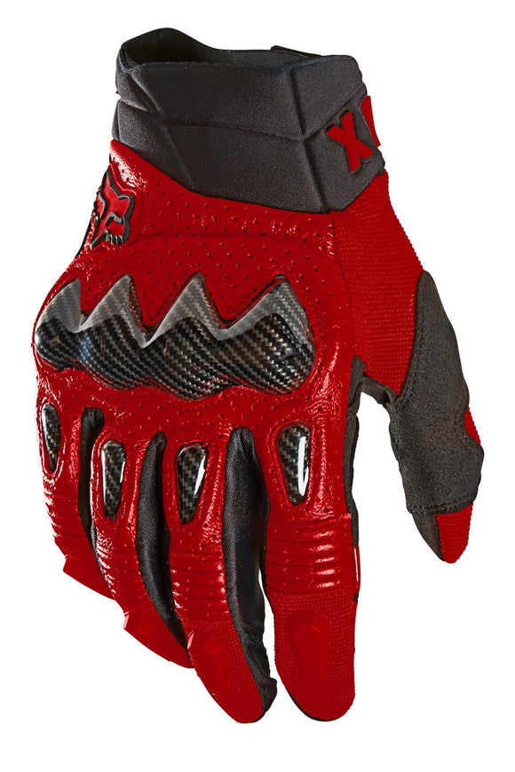 2021 Fox Racing Bomber Glove Adult Mens Street Gloves Flame Red Sport Goatskin