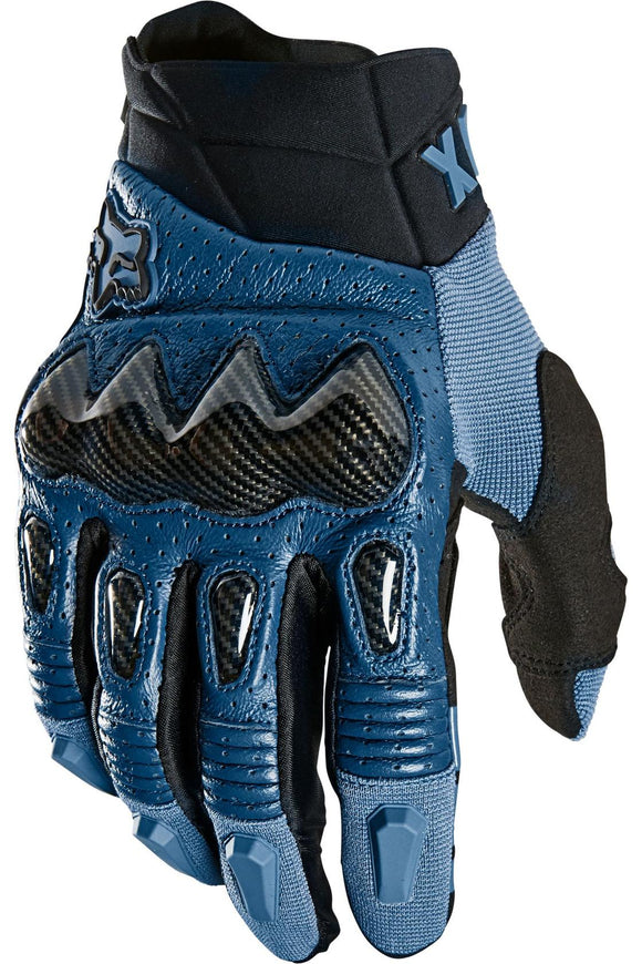 2021 Fox Racing Bomber Glove Adult Mens Street Gloves Blue Steel Sport Goatskin