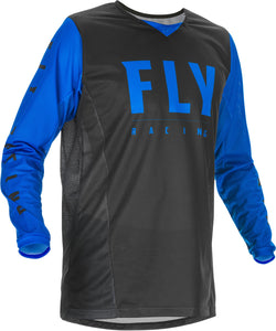 2020 Fly Racing Kinetic Mesh Motocross Jersey Black/Blue All Sizes Youth Adult