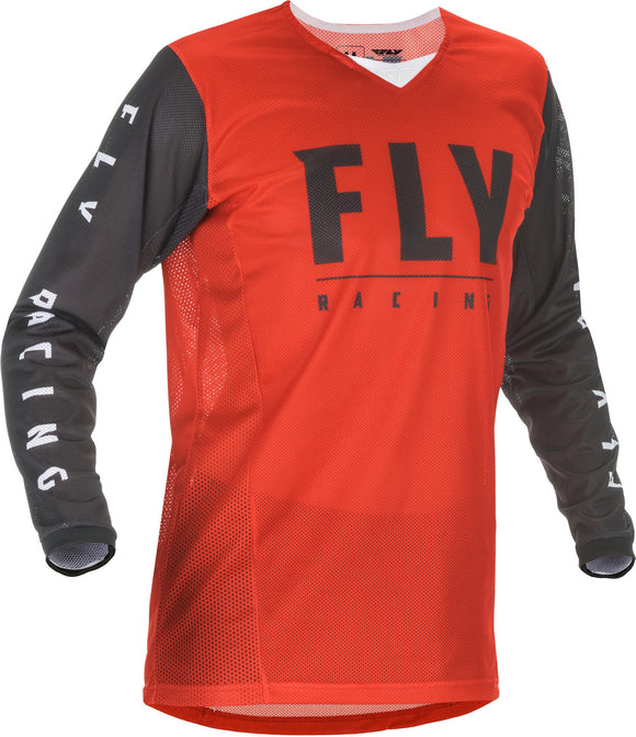 2020 Fly Racing Kinetic Mesh Motocross Jersey Red/Black All Sizes Youth Adult