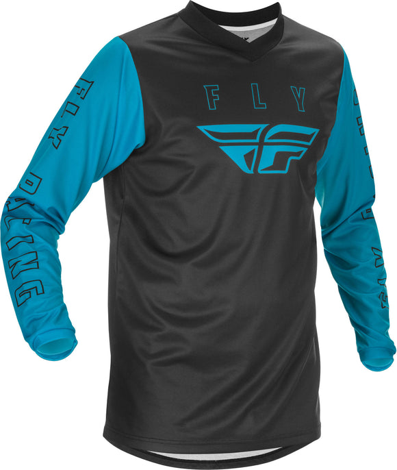 2021 Fly Racing Youth F-16 Jersey Blue Black Motocross Offroad ATV MX Dirt Bike