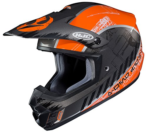 HJC CS-MX II Star Wars Rebel X-Wing Off-Road Helmet Unisex-Adult Black/Orange