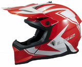 LS2 Helmets Motorcycle & Powersports Helmet's Off-Road Fast V2 (Two Face Red White)