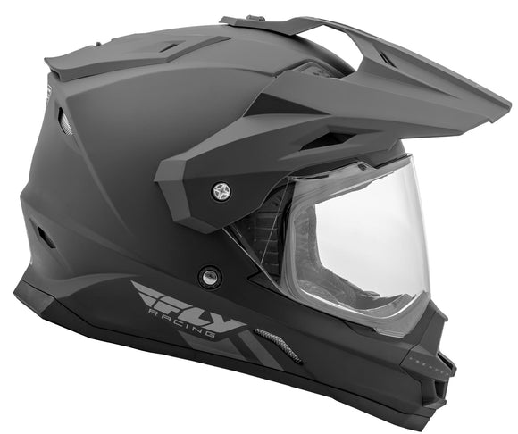 Fly Racing Trekker Motorcycle Helmet Adventure Solid Matte Black All Adult Sizes