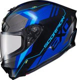 NEW Scorpion EXO-R420 Motorcycle Helmet Full Face Seismic Blue All Adult Sizes
