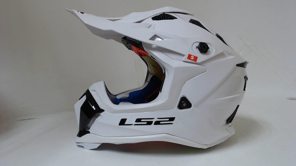 LS2 Subverter Motocross Helmet White Small Off-Road ATV Dirt Bike MX Motorcycle
