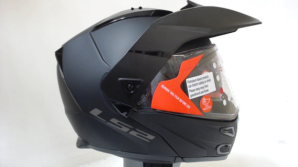LS2 Metro V3 Motorcycle Modular Helmet Unisex Adult Matte Black Medium Full Face