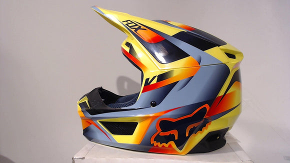 Fox Racing 2019 V1 Helmet Motif Adult Small Yellow Motocross MX ATV Dirt Bike