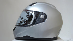 Speed and Strength Motorcycle Helmet Unisex Adult XS SS700 Silver Full Face
