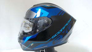 Scorpion EXO-R420 Motorcycle Helmet Full Face Seismic Blue Unisex Adult Large