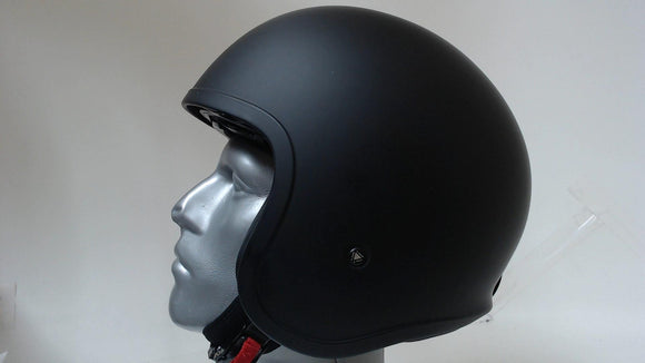 LS2 Spitfire Open Face Motorcycle Helmet Unisex Adult Solid Matte Black X-Large