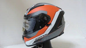 Scorpion EXO-R2000 Motorcycle Helmet Unisex Adult Hypersonic Orange Grey Medium