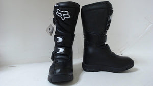 2020 Fox Racing Youth Comp 3 Motocross Boots Black Size 1 MX ATV Dirt Bike