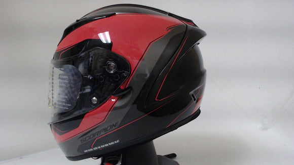 Scorpion EXO-R2000 Motorcycle Helmet Unisex Adult Small Hypersonic Red Full Face
