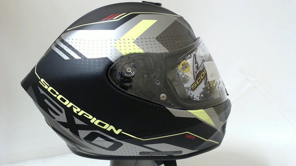 Scorpion EXO-R420 Motorcycle Helmet Full Face Seismic Hi-Viz Grey Adult Large