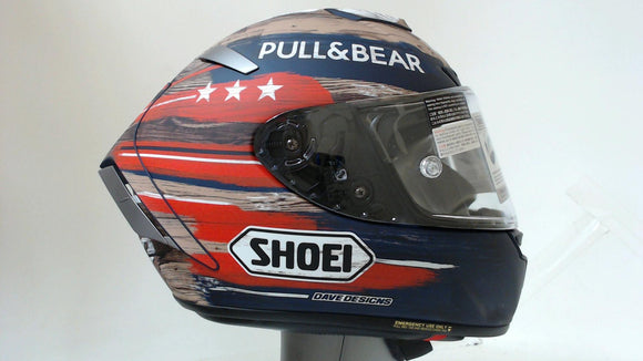 Shoei X-14 Motorcycle Helmet Marquez America All Sizes Red Blue Limited Edition