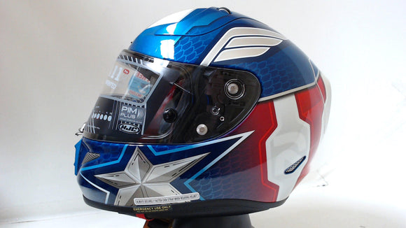 HJC Full Face Motorcycle Helmet RPHA-11 PRO Captain America Blue/Red/White Adult