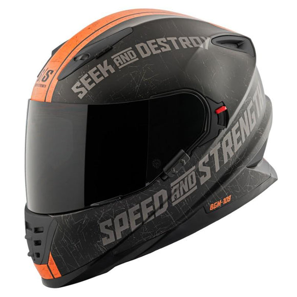 Speed & Strength Cruise Missile Motorcycle Helmet Unisex Adult 2XL Matte Orange