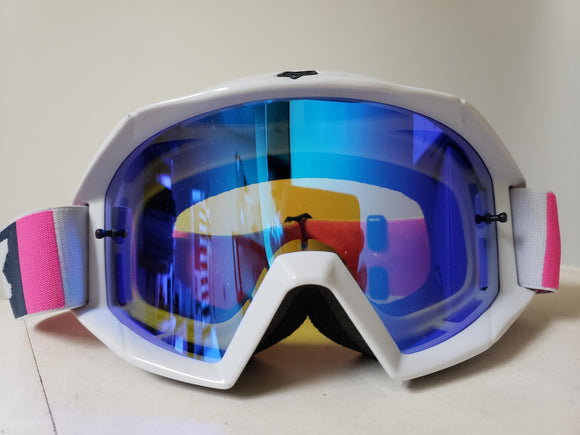 Fox Racing Main Cota Mx Motocross Dirt Bike Adult Goggles Grey Blue Mirror Lens