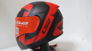 LS2 Breaker Motorcycle Helmet Unisex Adult XLarge XL Physics Black Red Full Face
