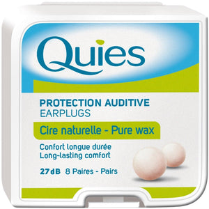Quies Boules Moldable Wax and Cotton Ear Plugs (Pack of 8 Pairs)