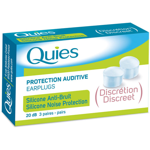 Quies Discreet Translucent Silicone Ear Plugs (3 Pairs)