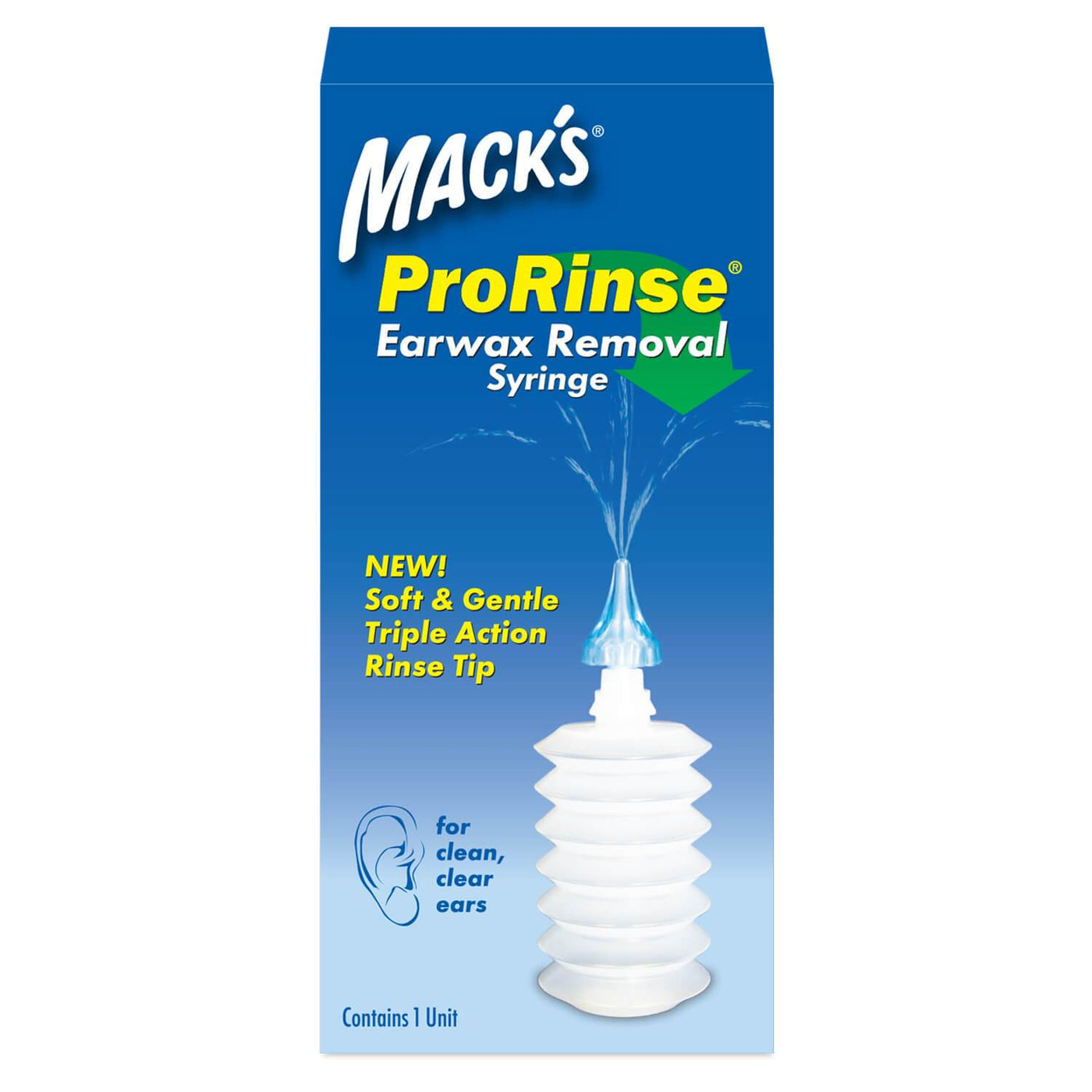 Macks ProRinse Earwax Removal Syringe