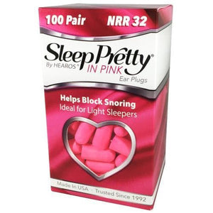 Hearos Sleep Pretty in Pink Ear Plugs (NRR 32) (100 Pairs)