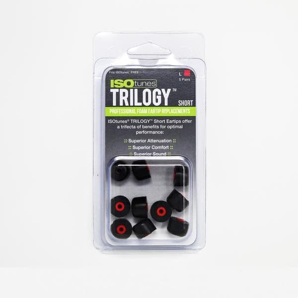 ISOtunes TRILOGY™ Foam Replacement Short Tips for ISOtunes FREE (5 pairs)