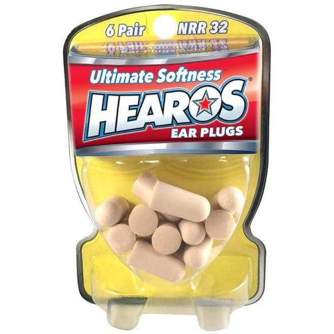 Hearos Ultimate Softness Ear Plugs (NRR 32) (6 Pairs)