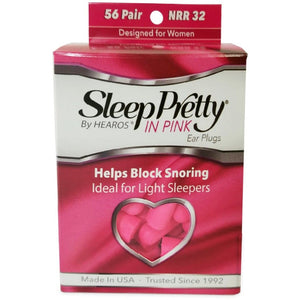 Hearos Sleep Pretty in Pink Ear Plugs (NRR 32) (56 Pairs)
