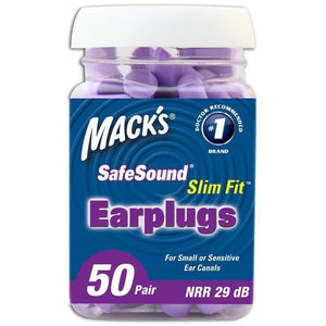 Macks Slim Fit Smaller Soft Foam Ear Plugs (NRR 29 | Bottle of 50 Pairs)
