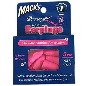 Macks Dreamgirl Soft Foam Ear Plugs (NRR 30) (5 Pairs)