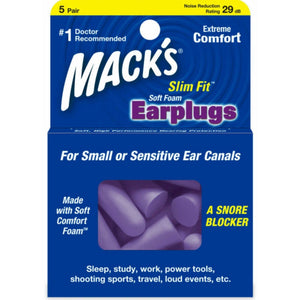 Macks Slim Fit Smaller Soft Foam Ear Plugs (NRR 29) (5 pairs)