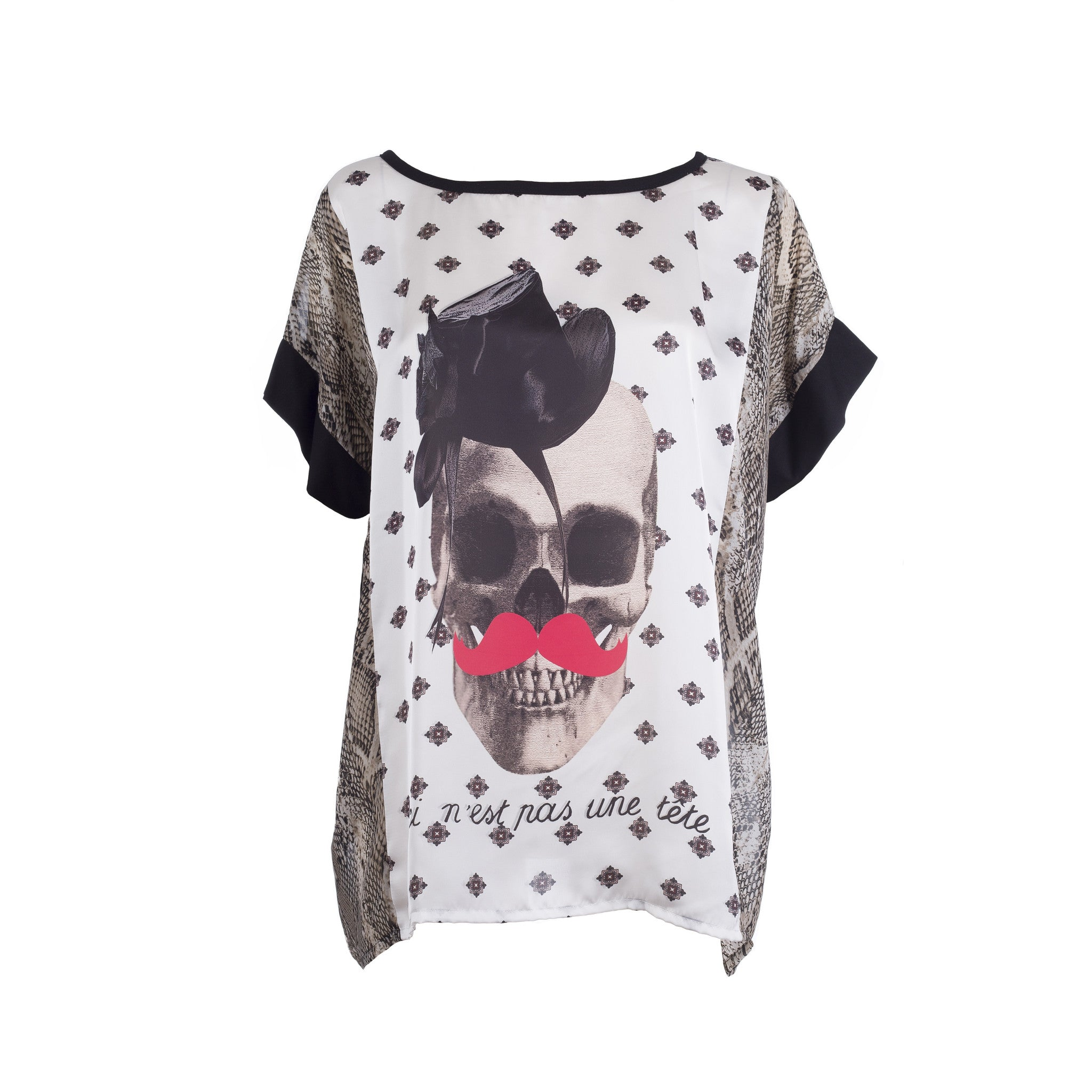 Top - skull print (one size)