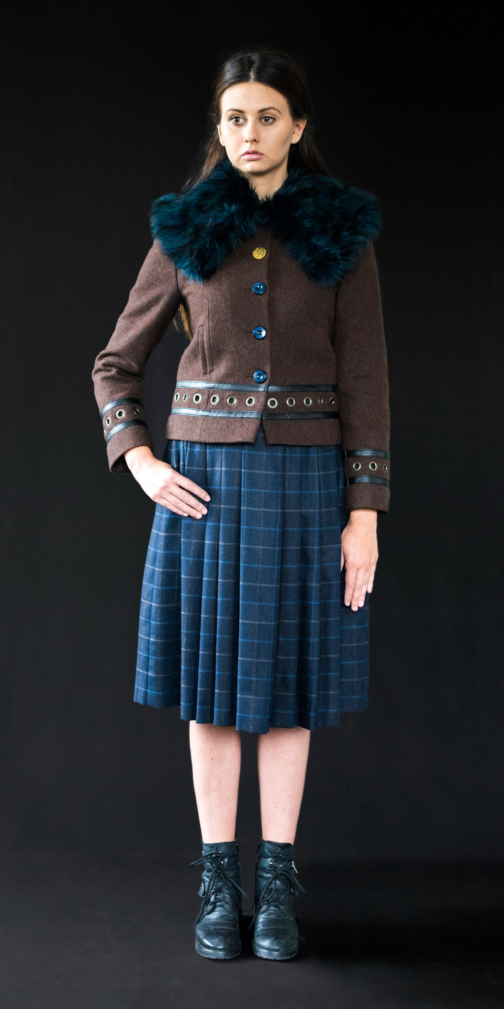 Coat brown wool with embroidery M/38