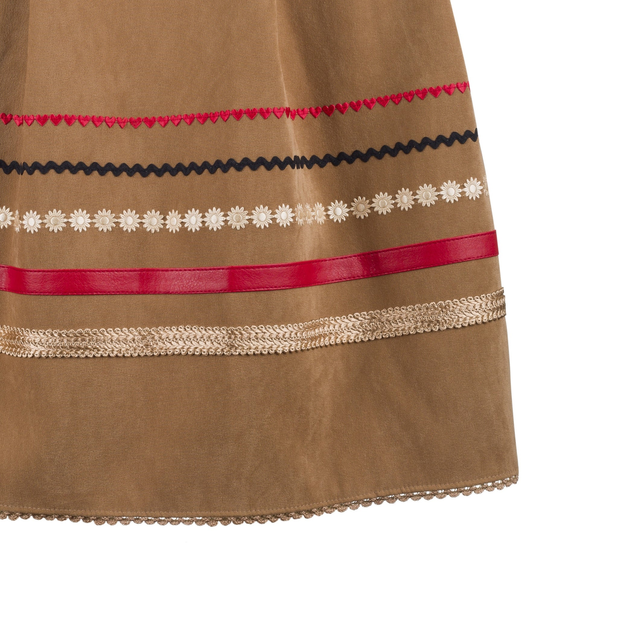 Skirt/apron - brown with ribbons (one size)