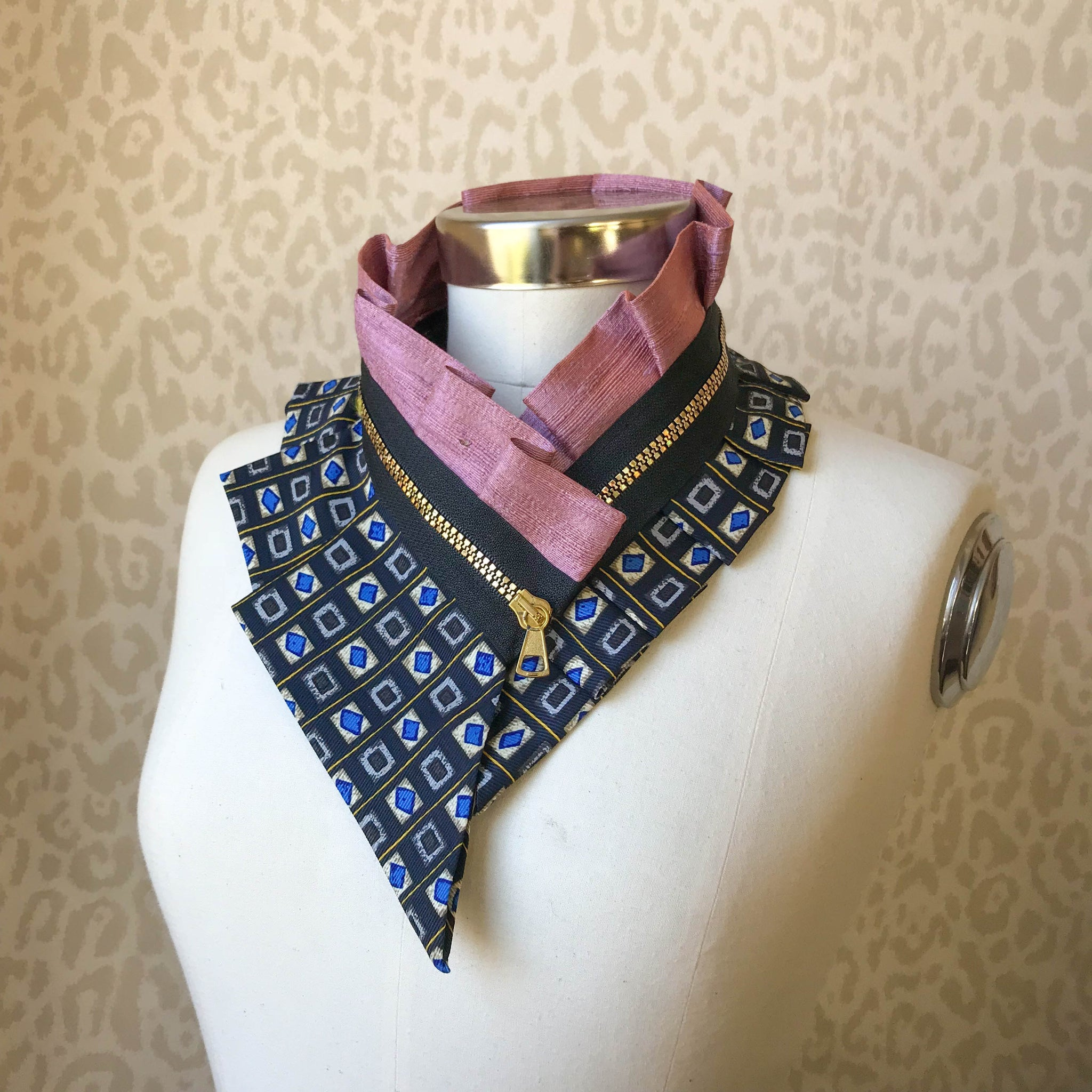 Zipper collar necklace #241