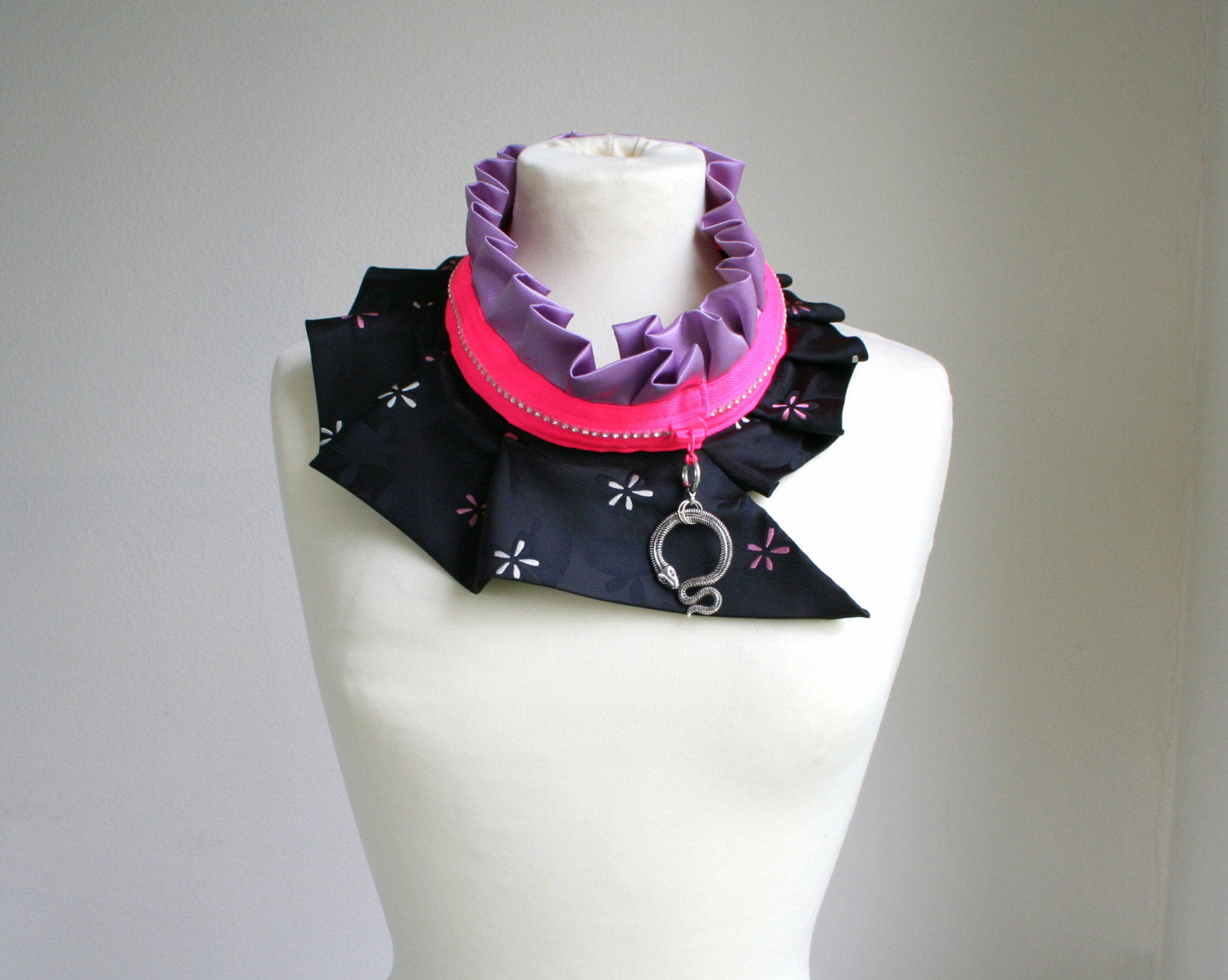 Zipper collar necklace #96