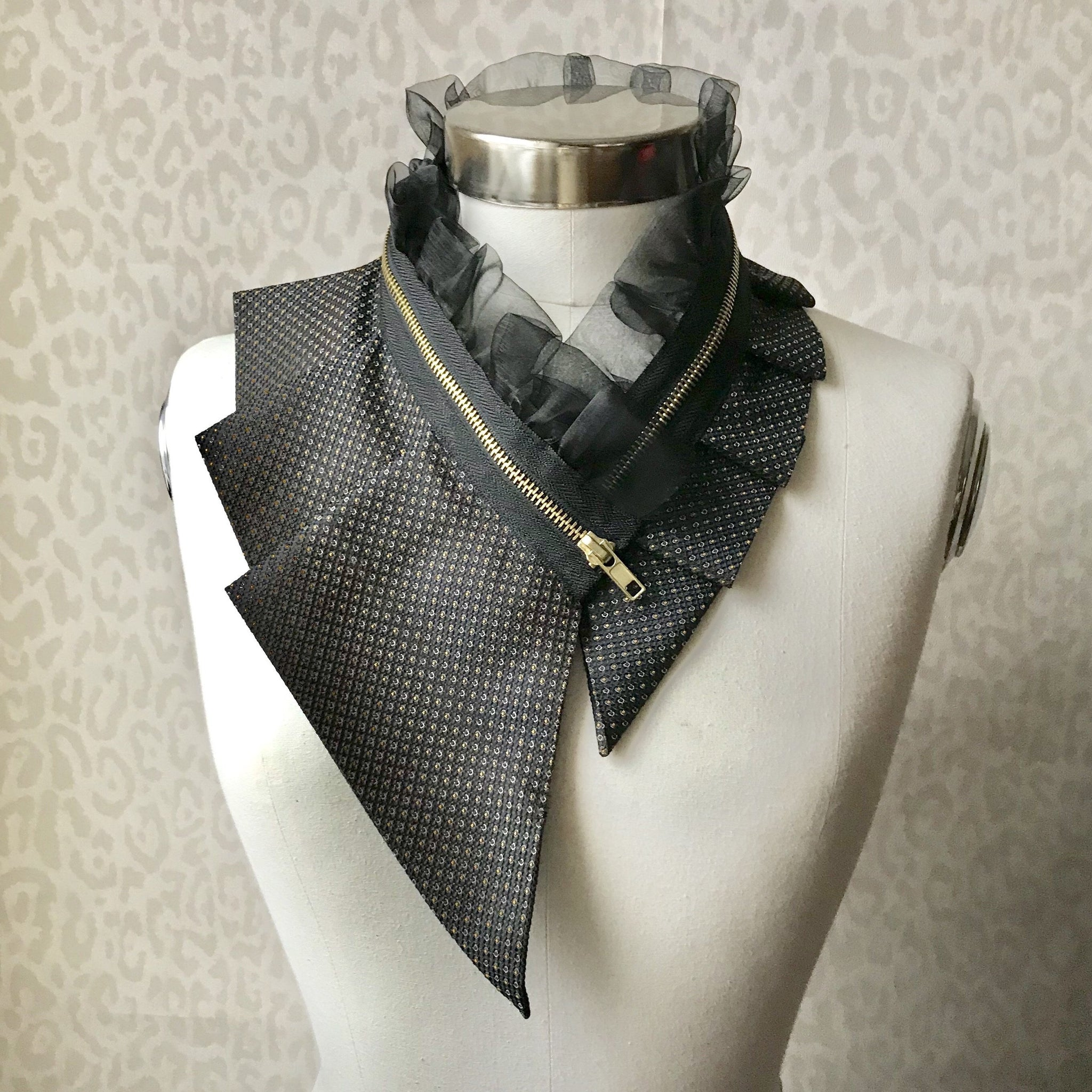 Zipper collar necklace #292