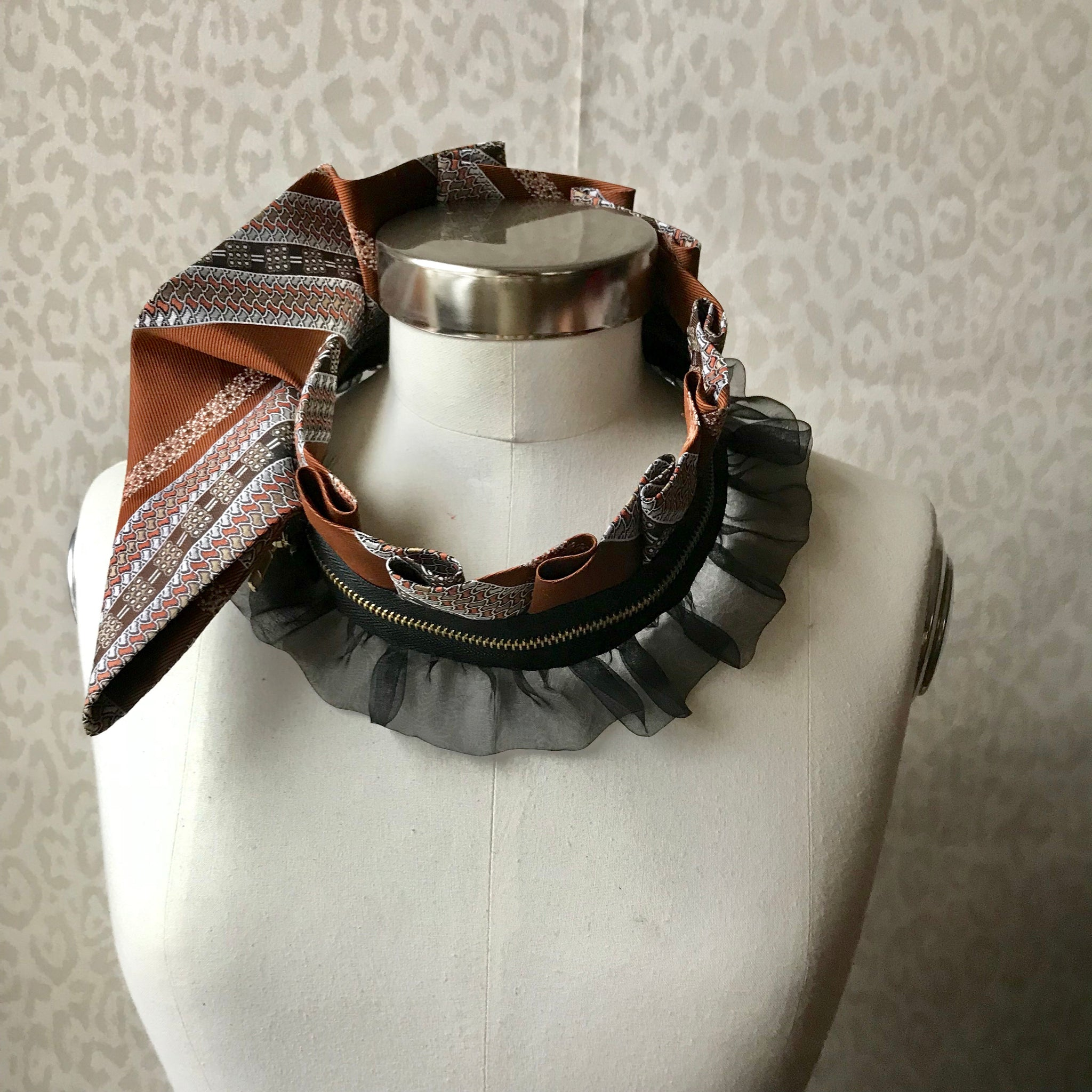 Zipper collar necklace #281