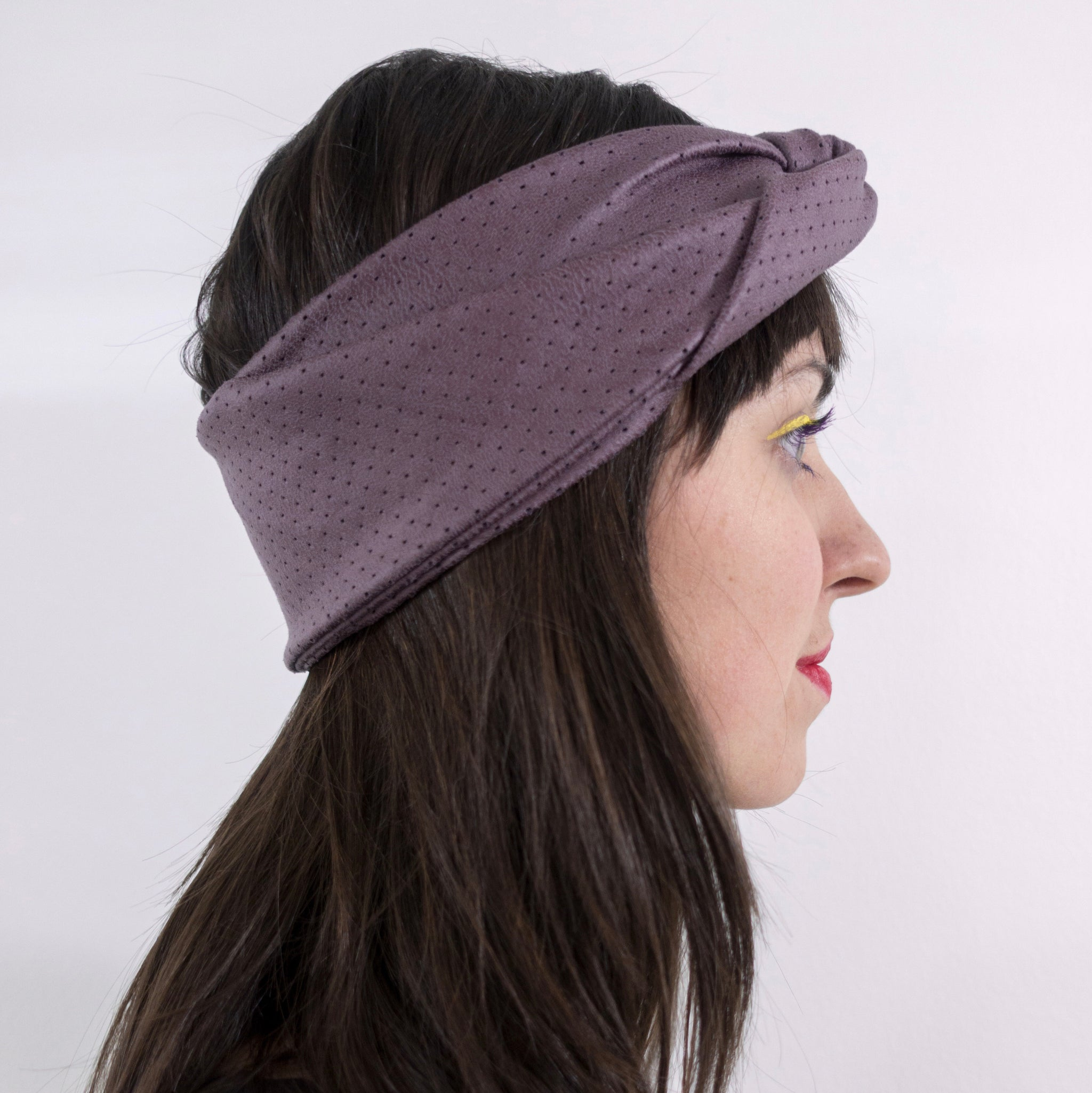 Turban headband - perforated faux leather
