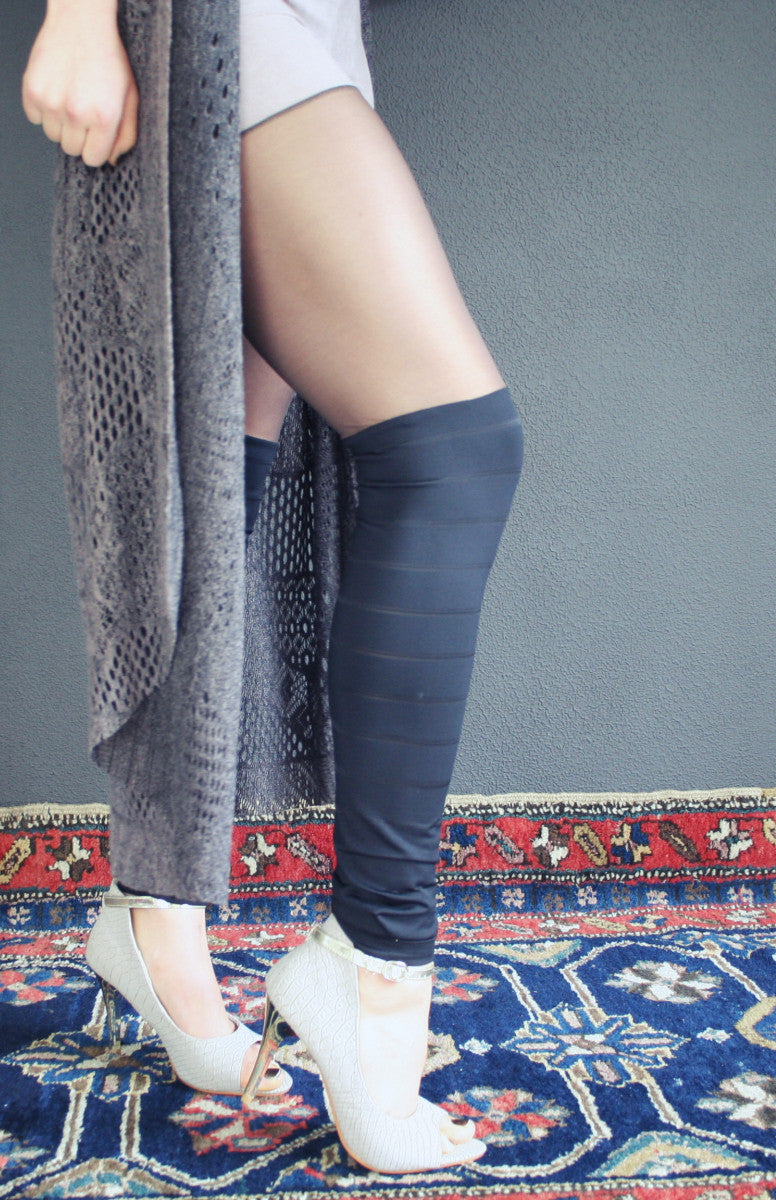 Leggings - black faux tights